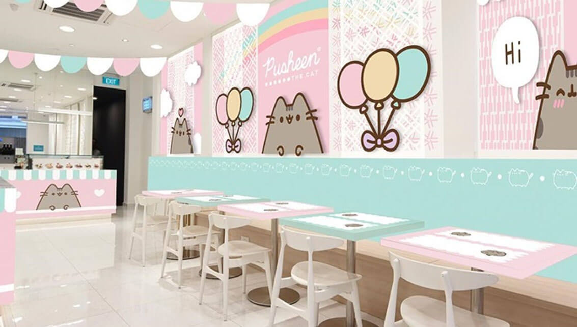 Is it accurate to say that you are an immense fanatic of kid's shows and livelinesss, Make a trip to Pusheen Cafe Singapore, serve Halal Menu